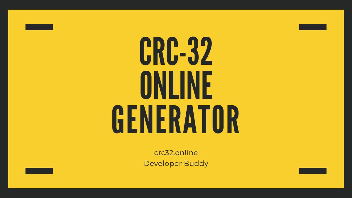 CRC-32 Checksum Calculator - crc32 online
